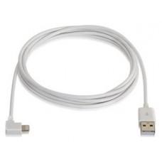 CABLE LIGHTNING ACODADO USB2 LIGHTNINGM-USB AM BLANCO