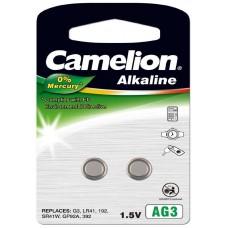 Pila Botón Alcalina LR41 1.5V 0% Mercurio (2 pcs) Camelion (Espera 2 dias)