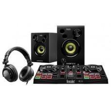 Hercules DJLearning Kit controlador dj Negro DVS (Sistema de vinilo digital) para scratch digital (Espera 4 dias)