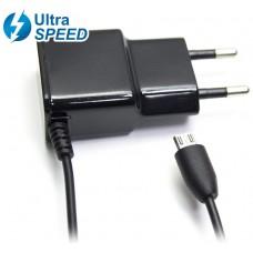 Cargador Micro USB UltraSpeed 2.1A Negro Biwond (Espera 2 dias)