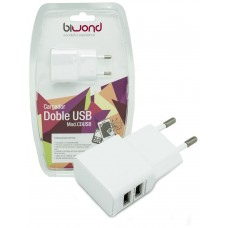 Cargador Doble USB 2A-1A Biwond (Espera 2 dias)