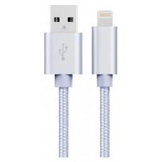 Cable USB a Lightning 8 Pines (Carga y Transferencia) Metal Plata 1m Biwond (Espera 2 dias)