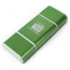 Lector OTG USB y Micro USB Verde (Espera 2 dias)
