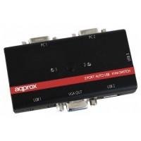 DATA SWITCH KVM 2X1 APPROX USB-VGA (Espera 4 dias)
