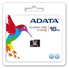 MICROSD A-DATA 16GB + ADAPTADOR SD (CLASE 4) (AUSDH16GCL4-RA1) (Espera 4 dias)