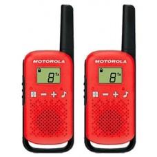 MOTOROLA T42 Walkie Talkie 4Km 16CH Rojo Duo