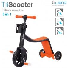 Patinete 3 en 1 TriScooter Naranja Biwond (Espera 2 dias)