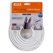 Engel Axil CA0728E cable coaxial 25 m Blanco (Espera 4 dias)