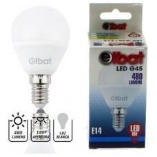 Bombilla LED G45 6W 480LM E14 Luz Blanca ELBAT (Espera 2 dias)