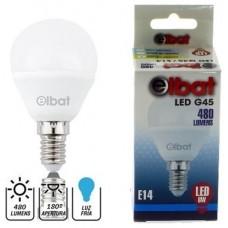 Bombilla LED G45 6W 480LM E14 Luz Fría ELBAT (Espera 2 dias)
