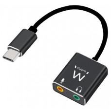 Ewent Cable adaptador de audio USB tipo C/ Jack