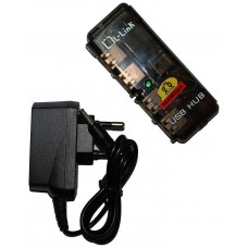 HUB 4 PUERTOS USB 2.0 L-LINK UH404L+FUENTE ALIM   LL-UH-404