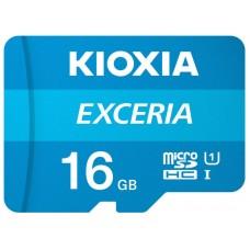 MICRO SD KIOXIA 16GB EXCERIA UHS-I C10 R100 CON ADAPTADOR