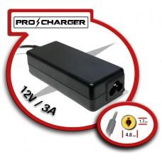 Carg. 12V/3A 4.8mm x 1.7mm 36w Pro Charger (Espera 2 dias)