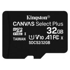 Kingston Technology Canvas Select Plus memoria flash 32 GB MicroSDHC Clase 10 UHS-I (Espera 4 dias)